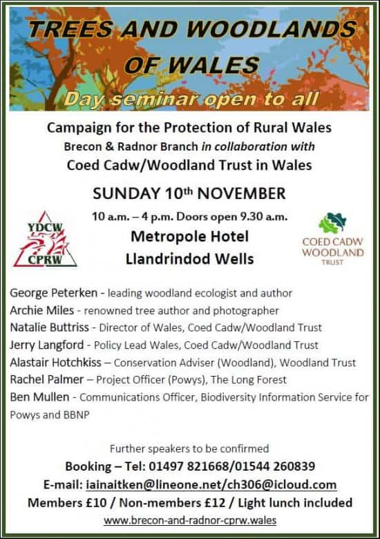 Trees & Woodlands of Wales, a CPRW / Woodland Trust Conference