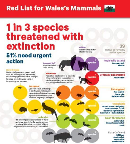 Red List for Mammals